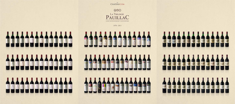 Pauillac trilogy 1970-2011 - Lafite Rothschild, Mouton Rothschild, Latour