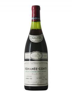 로마네-콩티 그랑 크뤼  도멘 드 라 로마네-콩티 1981 바틀 (75cl)